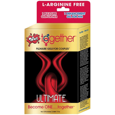 Wet Together Ultimate Pleasure Gels for Couples, L-Arginine Free, 0.5 oz x 2 Bottles, WET International