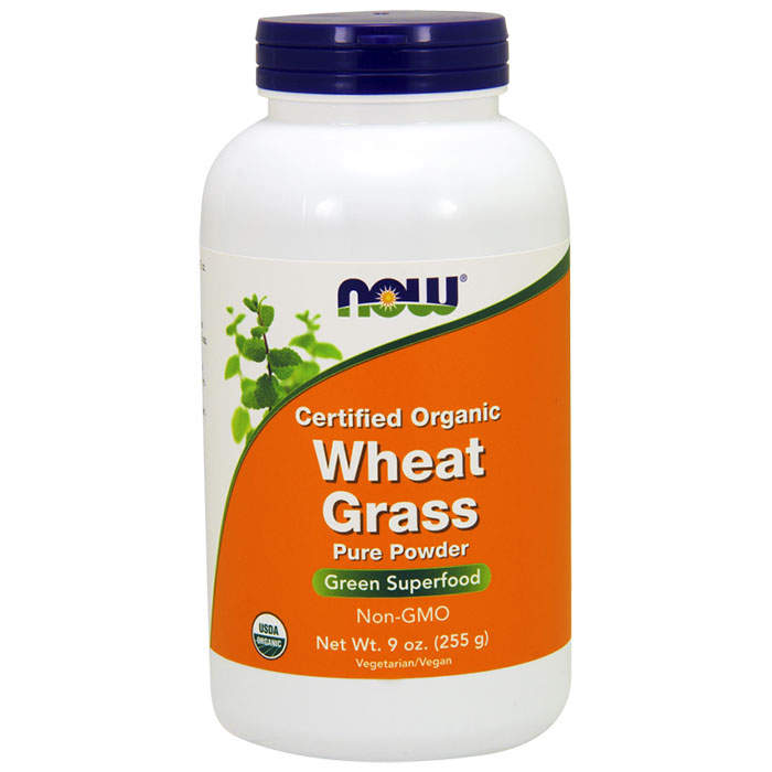 Wheat Grass Powder 9 oz, Organic Wheat Grass, NOW Foods