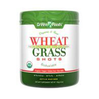 Wheat Grass Shots, Drink Mix, Organic & Raw, 150 g (30 Servings), Green Foods Corporation