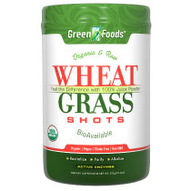 Wheat Grass Shots, Drink Mix, Organic & Raw, 300 g (60 Servings), Green Foods Corporation