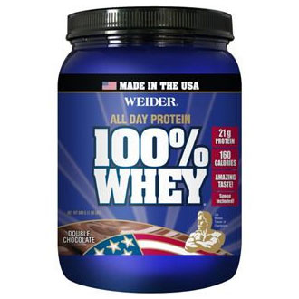 100% Whey - Double Chocolate, 2 lb, Weider