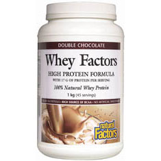 Whey Factors - Chocolate, 100% Natural Whey Protein, 2 lb, Natural Factors