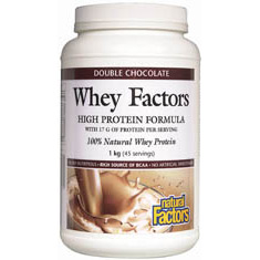 Whey Factors Powder Drink Mix - Chocolate 12 oz, Natural Factors