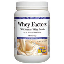 Whey Factors - Vanilla, 100% Natural Whey Protein, 2 lb, Natural Factors
