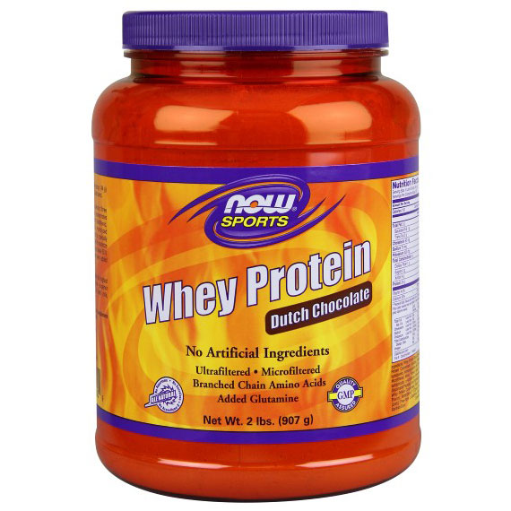 Whey Protein Chocolate 2 lb, NOW Foods