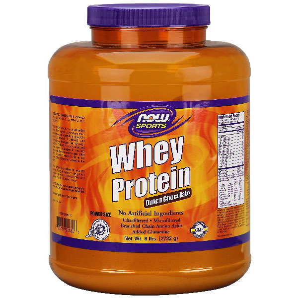 Whey Protein Chocolate, 6 lb, NOW Foods