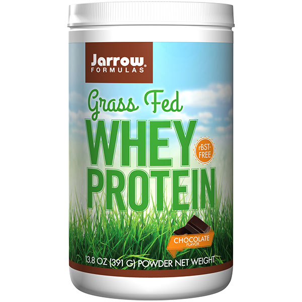 Whey Protein Grass Fed - Chocolate Flavor, 13.8 oz (15 Servings), Jarrow Formulas