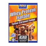 Whey Protein Isolate Packets - Toffee Caramel Fudge, 14 Packs, NOW Foods