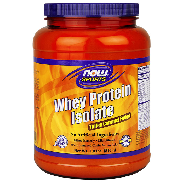 Whey Protein Isolate - Toffee Caramel Fudge, 1.8 lb, NOW Foods