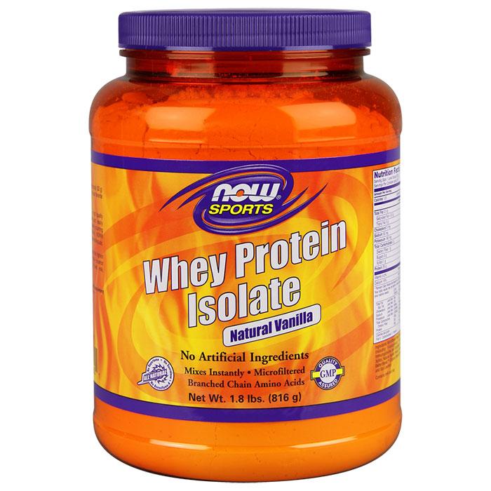Whey Protein Isolate Vanilla, 1.8 lb, NOW Foods