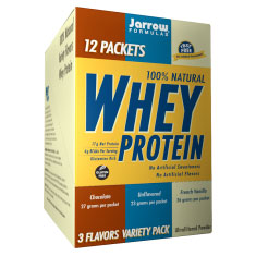 Whey Protein Packet - Variety Pack, 12 Packets, Jarrow Formulas