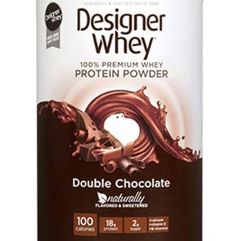 100% Premium Whey Protein Powder, Double Chocolate, 12 oz, Designer Whey