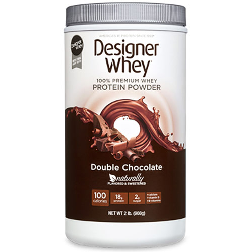 100% Premium Whey Protein Powder, Double Chocolate, 2 lb, Designer Whey