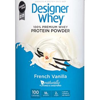 100% Premium Whey Protein Powder, French Vanilla, 12 oz, Designer Whey