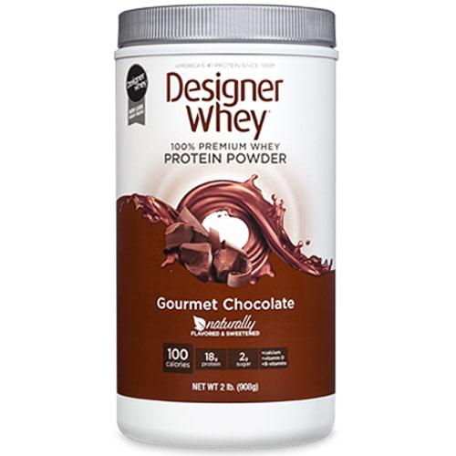 100% Premium Whey Protein Powder, Gourmet Chocolate, 2 lb, Designer Whey