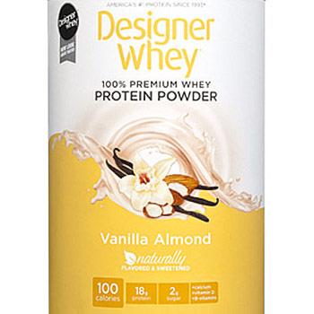 100% Premium Whey Protein Powder, Vanilla Almond, 12 oz, Designer Whey