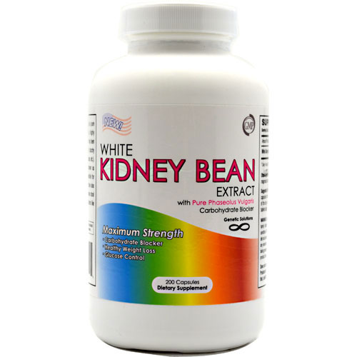 White Kidney Bean Extract, 200 Capsules, Genetic Solutions