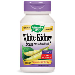 White Kidney Bean Standardized, 60 Vcaps, Natures Way
