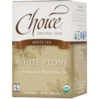 White Peony White Tea, 16 Tea Bags, Choice Organic Teas