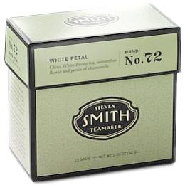 White Petal Full Leaf White Tea, Blend No. 72, 15 Tea Bags, Steven Smith Teamaker