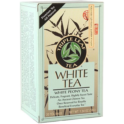 White Tea, 20 Tea Bags x 6 Box, Triple Leaf Tea