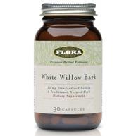 White Willow Bark, 30 Capsules, Flora Health