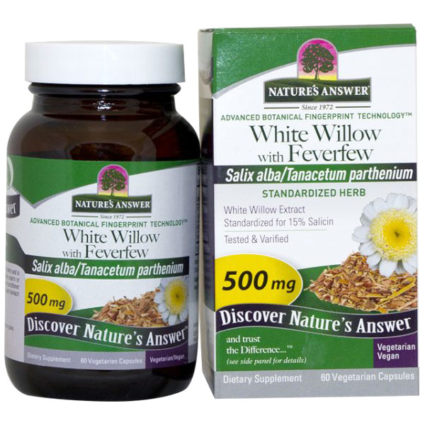 White Willow with Feverfew Extract Standardized