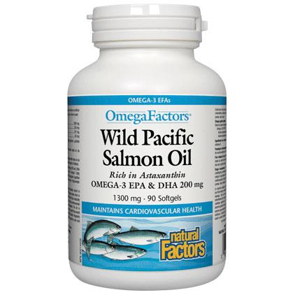 Wild Alaskan Salmon Oil, Omega Factors, 90 Softgels, Natural Factors