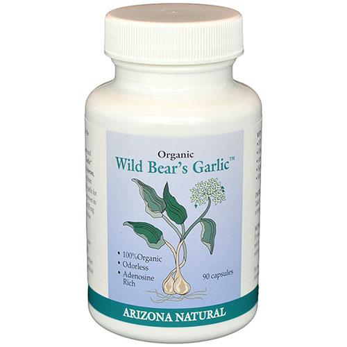 Wild Bear Odorless Organic Garlic 90 caps from Arizona Natural