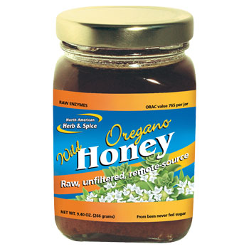 Wild Oregano Honey, 9.4 oz (266 g), North American Herb & Spice