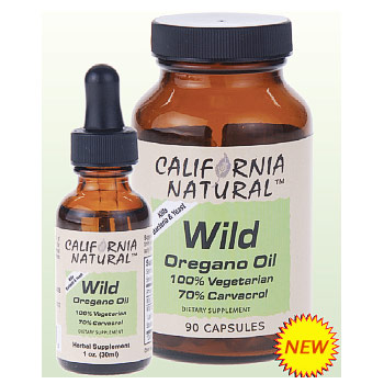 Wild Oregano Oil, 1 oz, California Natural