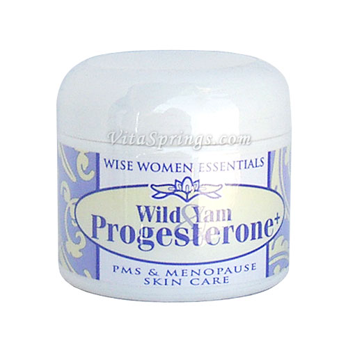 Wild Yam & Progesterone Cream, 2 oz Jar, Wise Essentials