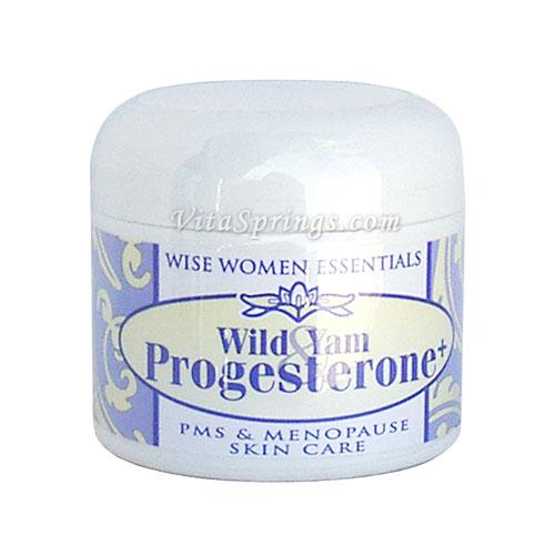 Wild Yam & Progesterone Cream, 2 oz Jar, Wise Essentials