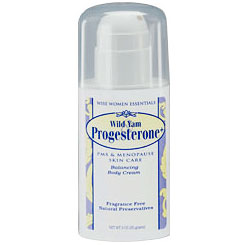 Wild Yam & Progesterone Cream, 3 oz Pump, Wise Essentials