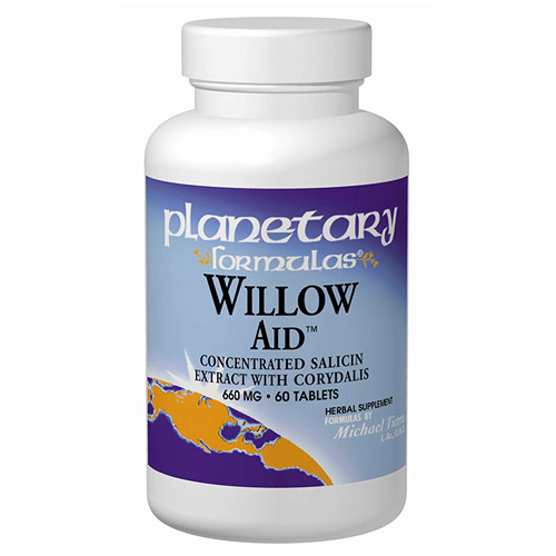 Image of Willow Aid (Willow Bark Complex) 60 tabs, Planetary Herbals