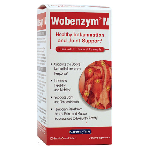 Wobenzym N, 100 Enteric-Coated Tablets, Garden of Life