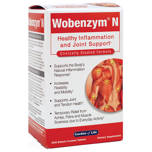 Wobenzym N, 400 Enteric-Coated Tablets, Garden of Life