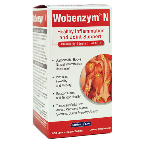 Wobenzym N, 800 Enteric-Coated Tablets, Garden of Life