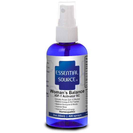 Womans Balance, IGF-1 6C Homeopathic Spray, 2 oz, Essential Source