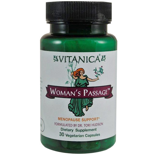 Womans Passage, Menopause Support, 30 Vegetarian Capsules, Vitanica