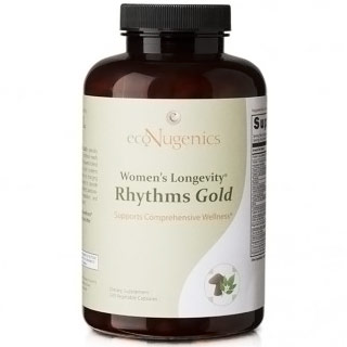 Womens Longevity Rhythms Gold, 240 Vegetable Capsules, EcoNugenics