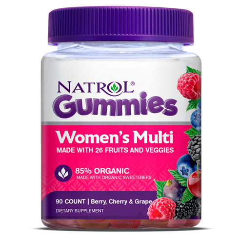 Womens Multi Gummies, Chewable Multi-Vitamins & Minerals, 90 Gummies, Natrol