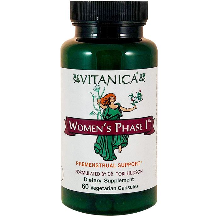 Womens Phase I, Premenstrual Support, 60 Vegetarian Capsules, Vitanica
