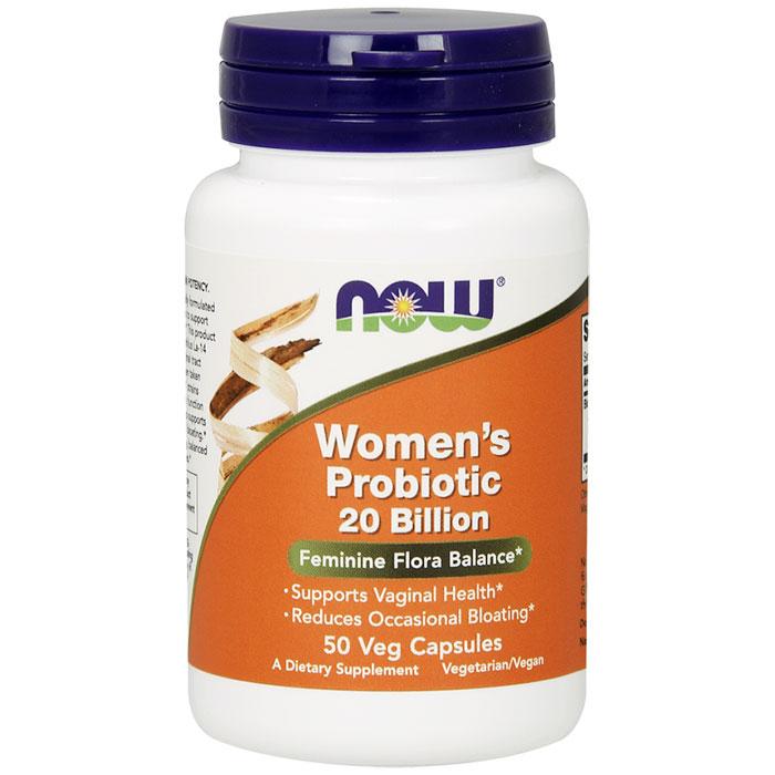 Womens Probiotic 20 Billion, 50 Vegetarian Capsules, NOW Foods
