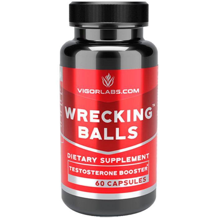 Wrecking Balls, Testosterone Booster, 60 Capsules, Vigor Labs