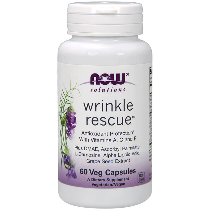 Image of Wrinkle Rescue, Skin Beauty Supplement, 60 Veg Capsules, NOW Foods