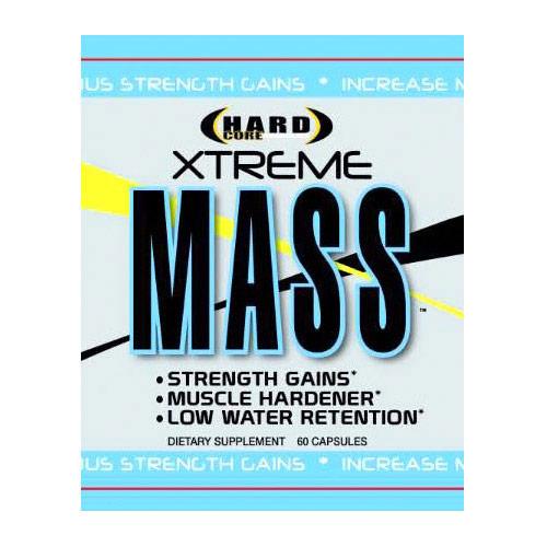 Xtreme Mass, Strength Gains & Muscle Hardener, 60 Capsules, Hardcore Anabolics