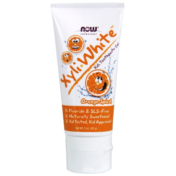 Xyliwhite Kids Toothpaste Gel - Orange Splash, 3 oz, NOW Foods