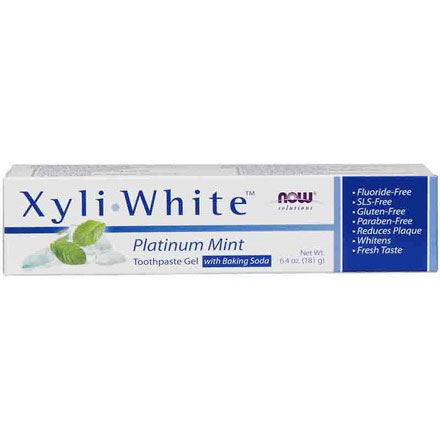 XyliWhite Platinum Mint Toothpaste Gel, 6.4 oz, NOW Foods - CLICK HERE TO LEARN MORE