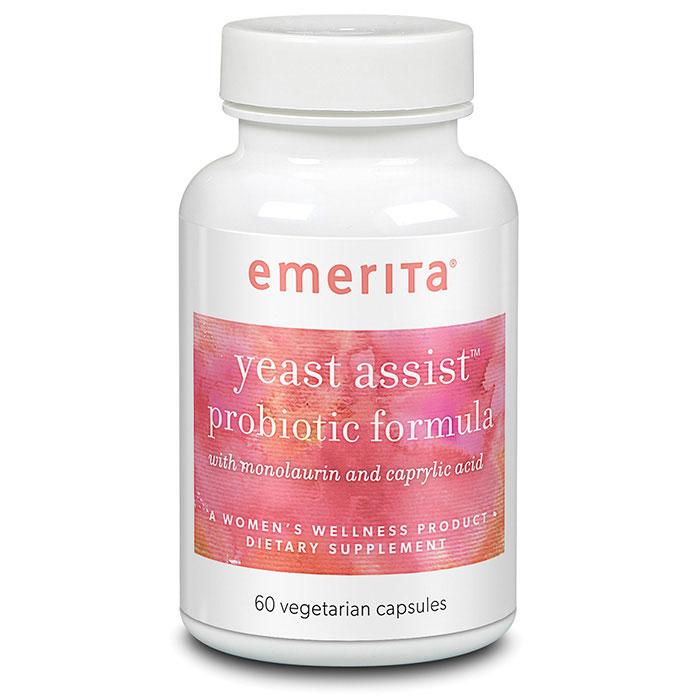 Yeast Assist Probiotic Formula, 60 Vegetarian Capsules, Emerita